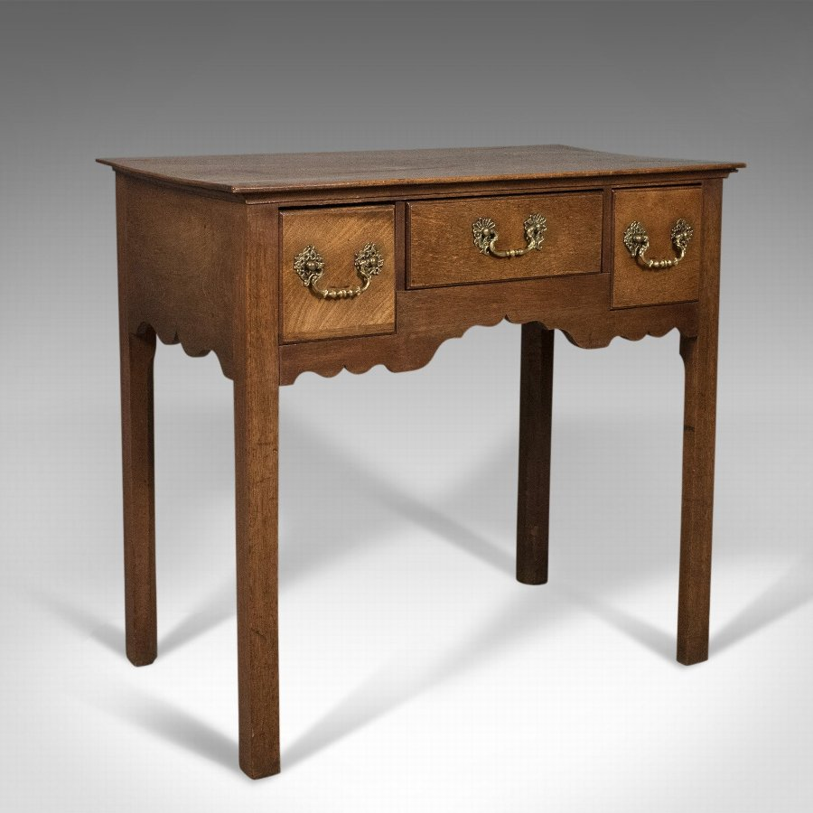 Antique Lowboy, Mahogany, English, Victorian Side Table Circa 1900