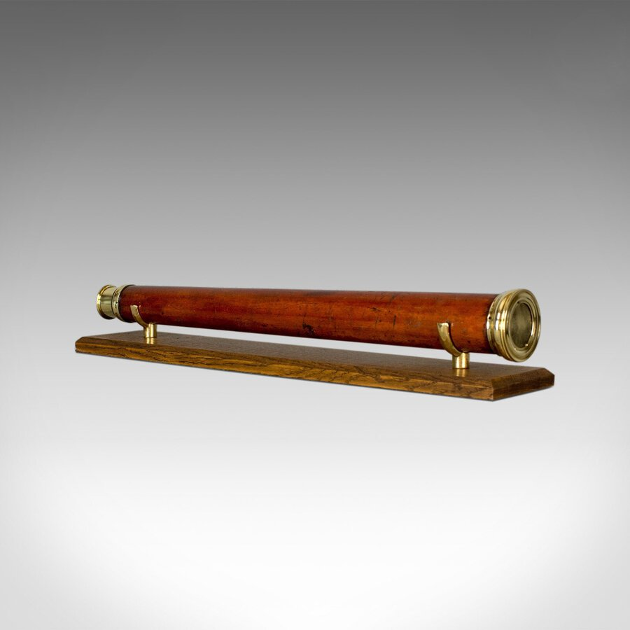 Antique Telescope, English, Single Draw Refractor, T Harris & Son London, c.1810