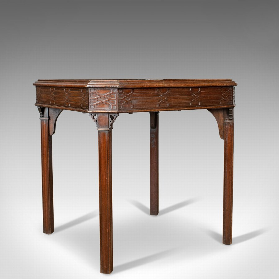 Antique Games Table, English, Georgian, Mahogany, Card, Oriental Circa 1800