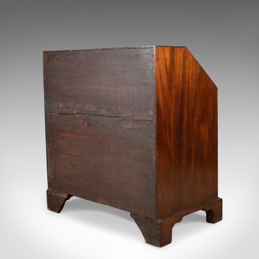 Antique Antique Bureau, Mahogany, English, Georgian, Generous Desk Space, Circa 1800