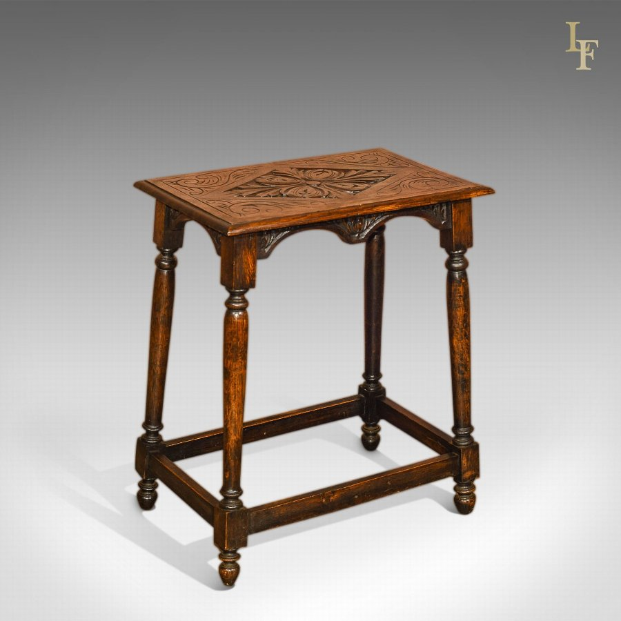Antique Occasional Table, Late Victorian Oak c.1890