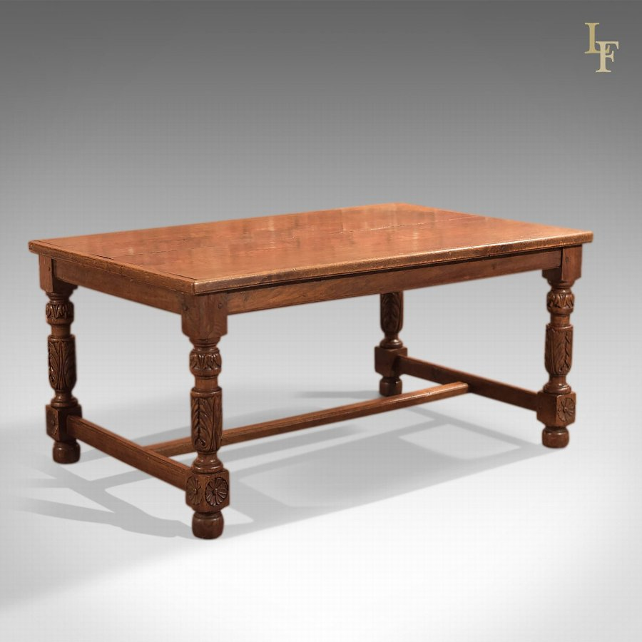 Antique Refectory Table, Low Work Table c1800