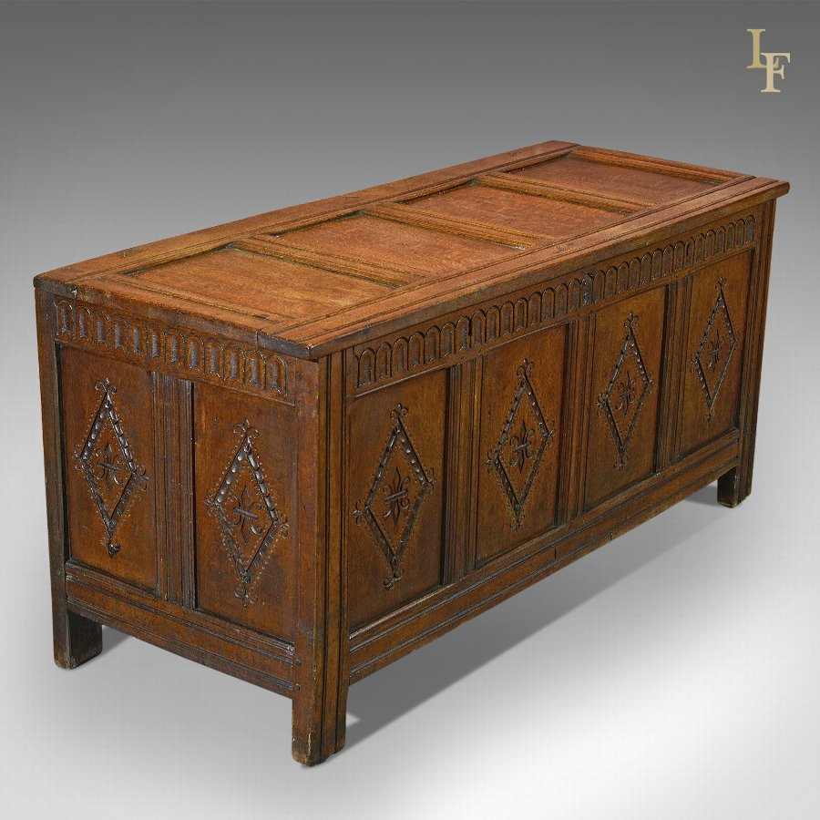 Antique Coffer, Charles II Chest c.1680