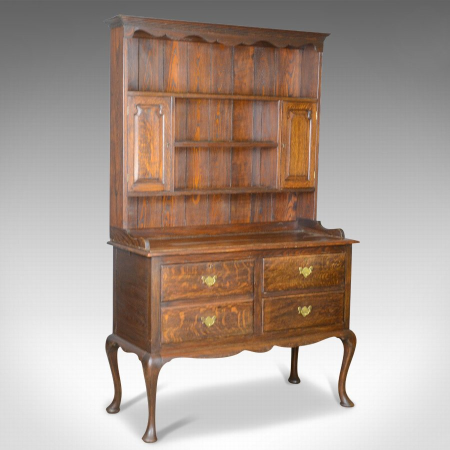 Antique Dresser, English, Oak, Victorian, Country Kitchen, Sideboard, Circa 1870