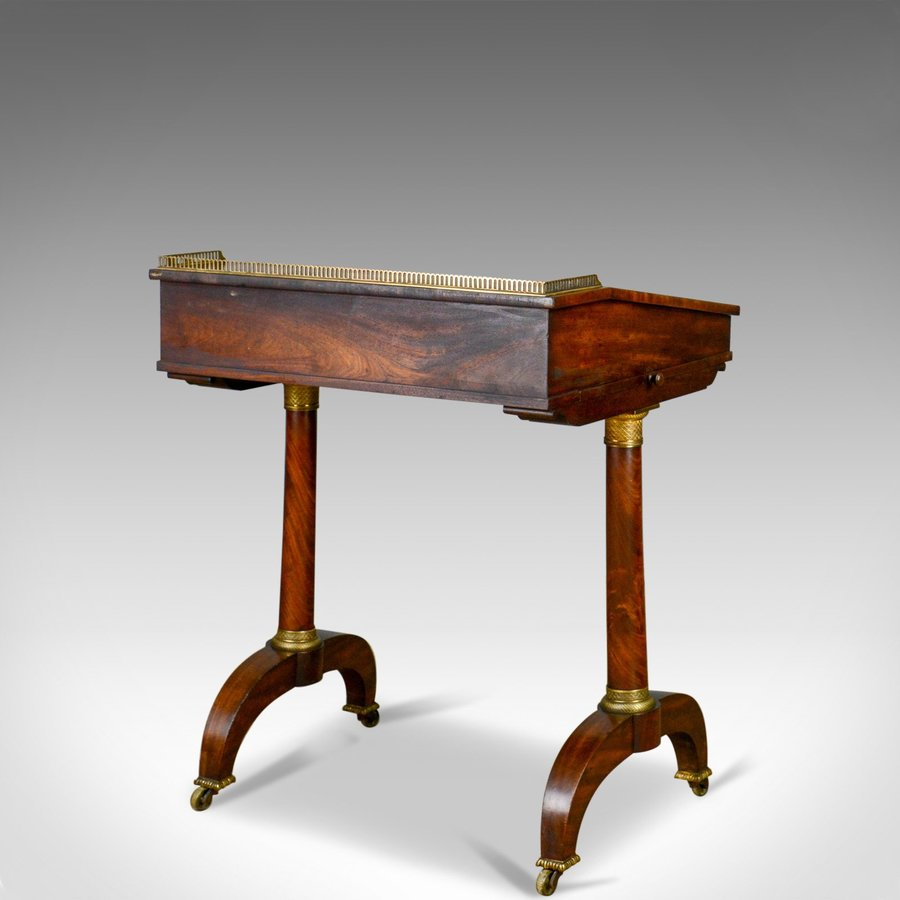 Antique Antique Writing Table, English, Regency, Mahogany, Davenport, Circa 1820