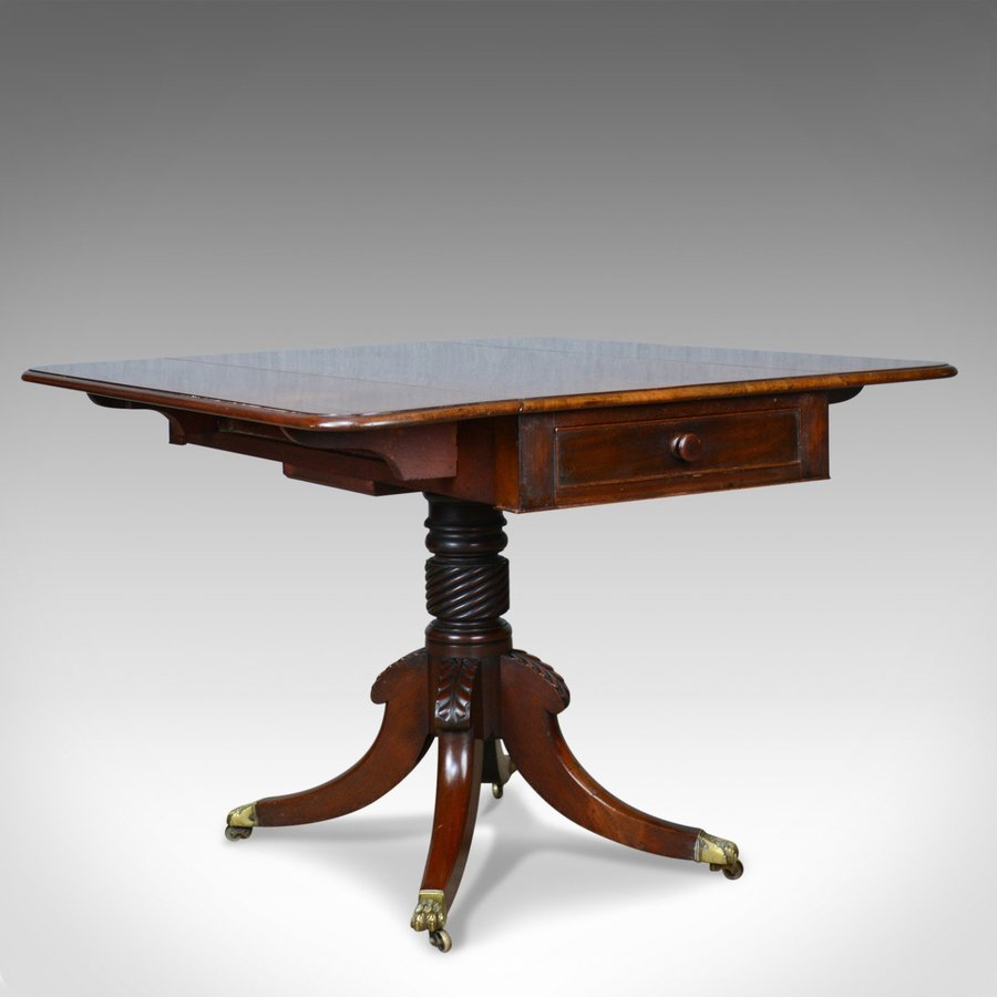 Antique Antique Pembroke Table, Mahogany, English, Regency, Drop Flap, Circa 1820