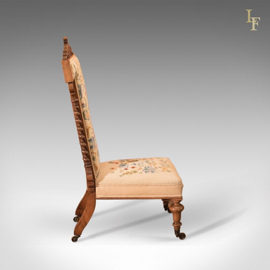 Antique Antique Prie Dieu Chair, Victorian Rosewood c.1850