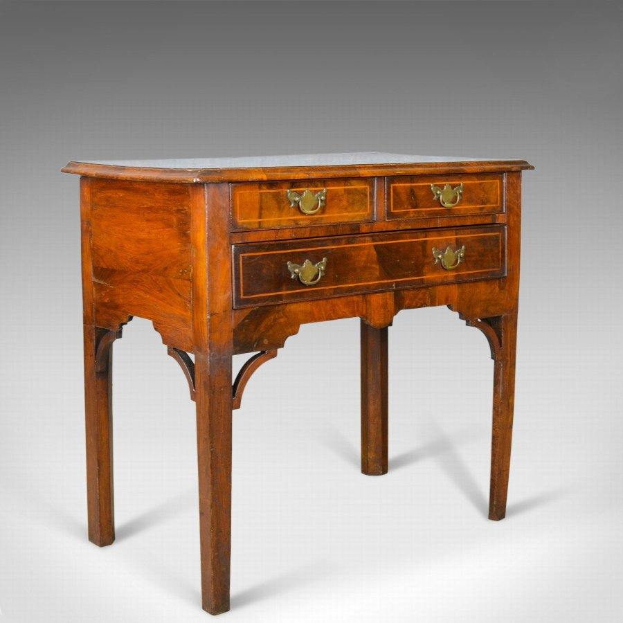 Antique Lowboy, English, Georgian, Walnut, Side Table, Early C19th, Circa 1800
