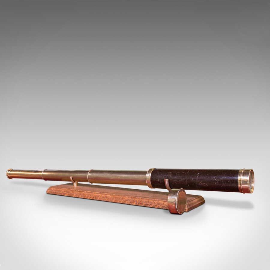 Antique Telescope, 3 Draw, Pocket Refractor, Dollond London, Mid 19th Century