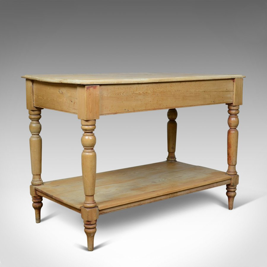 Antique Pine Console Table, English, Victorian, Kitchen, Work, Circa 1880