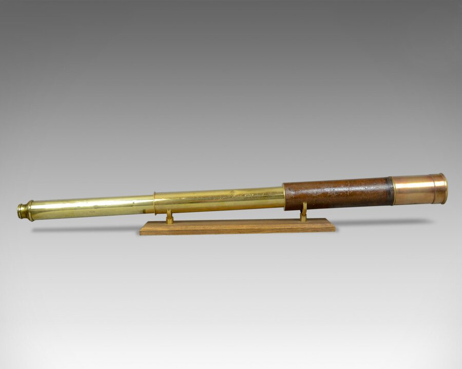Antique Antique Telescope, Two Draw, Refractor, Stampa and Son, London, Circa 1810