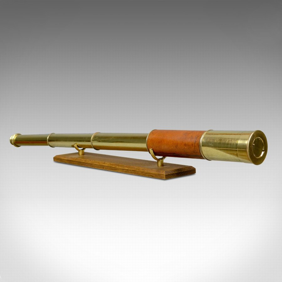 Antique Telescope, 3 Draw Refractor, Terrestrial, Astronomical, English c.1820