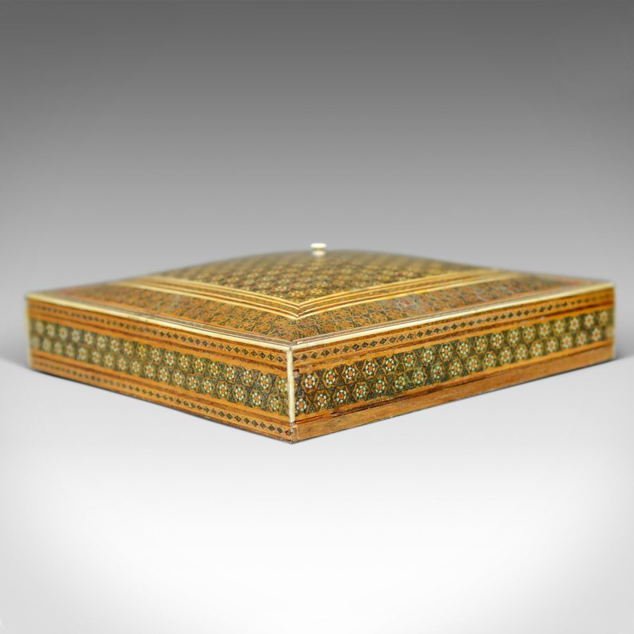 Antique Antique Sadeli Ware Box, Anglo-Indian, Jewellery, Late 19th Century