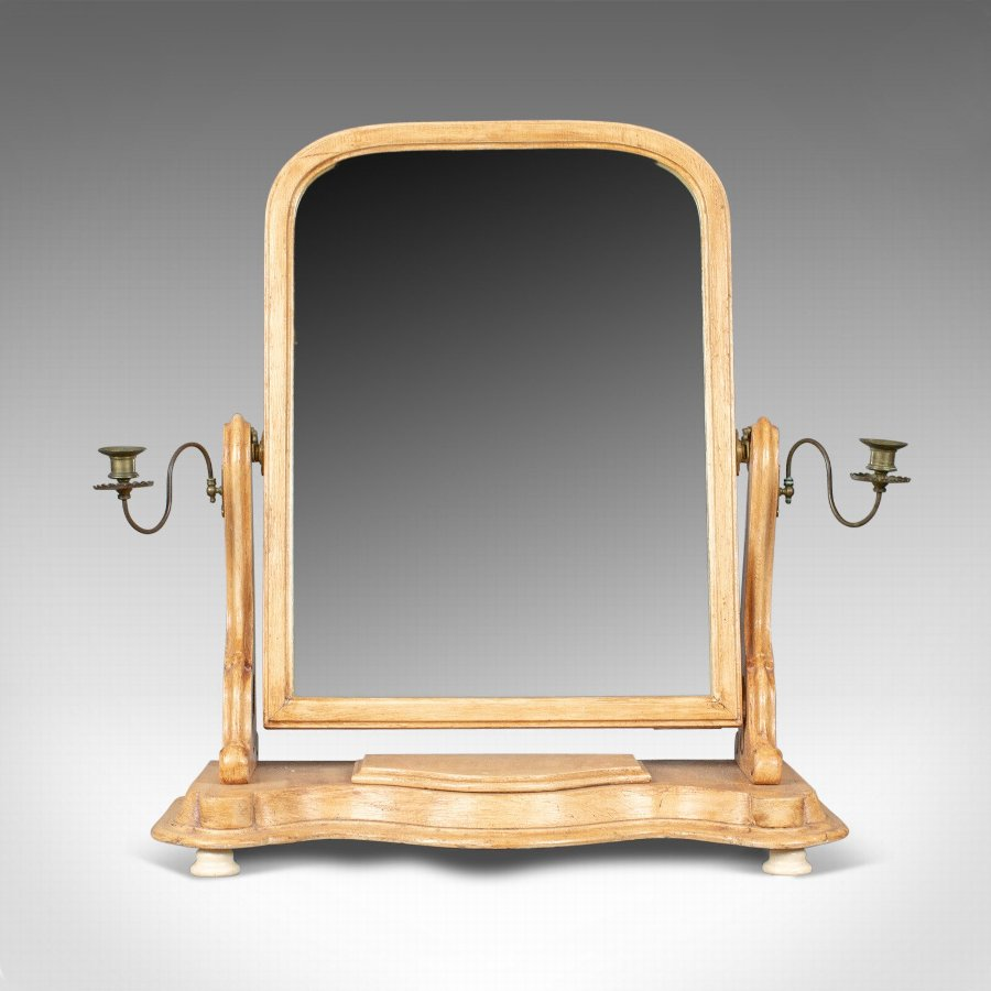 Antique Antique Dressing Table Mirror, English Victorian, Vanity, Toilet, Painted, c1870