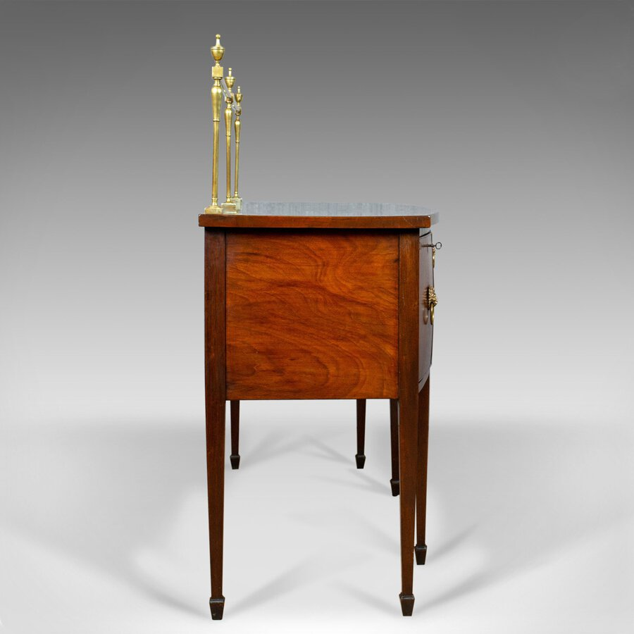 Antique Antique Sideboard, English, Regency, Server, Mahogany, 19th Century, Circa 1830
