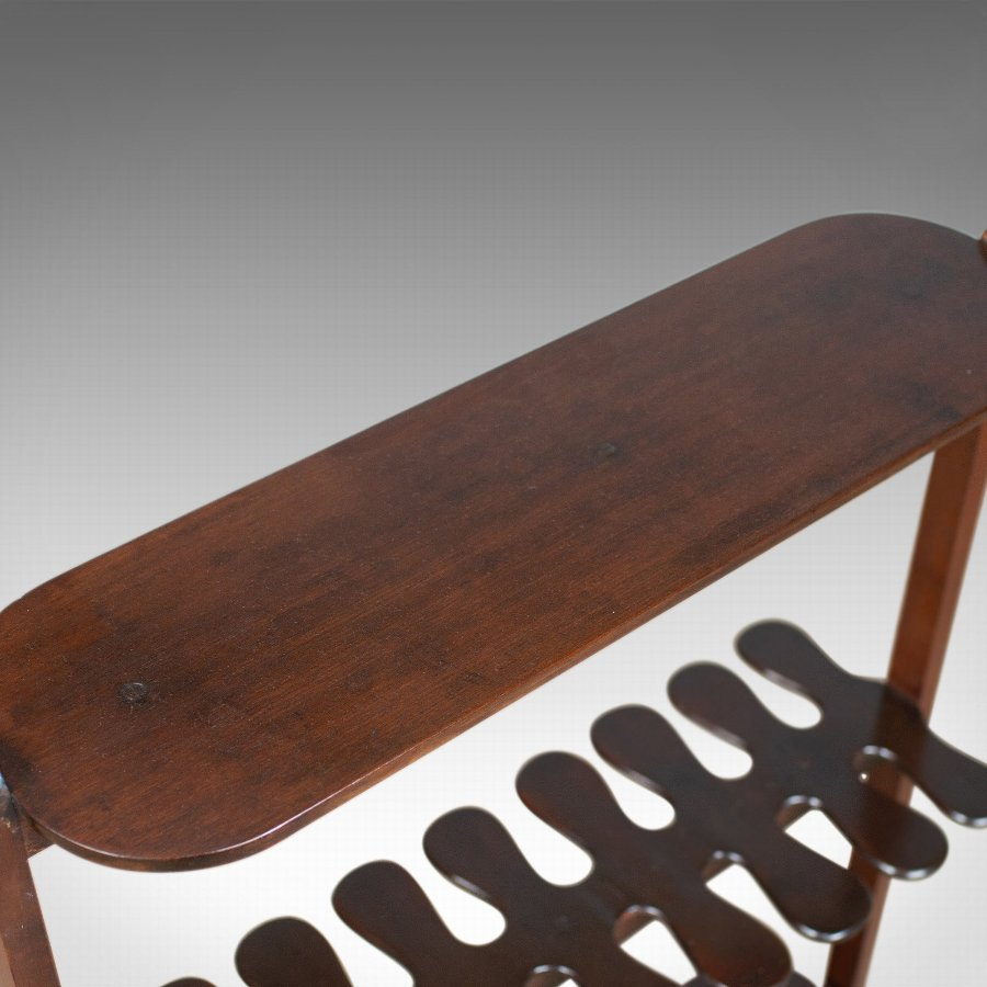 Antique Antique Boot Rack, English, Edwardian, Riding, Crop, Stand, Mahogany, Circa 1910