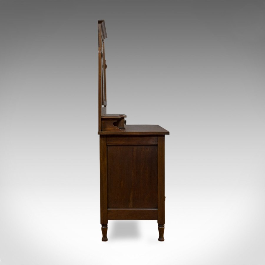 Antique Antique Dressing Table, Ray and Miles, Edwardian, Oak, Vanity Chest, Circa 1910