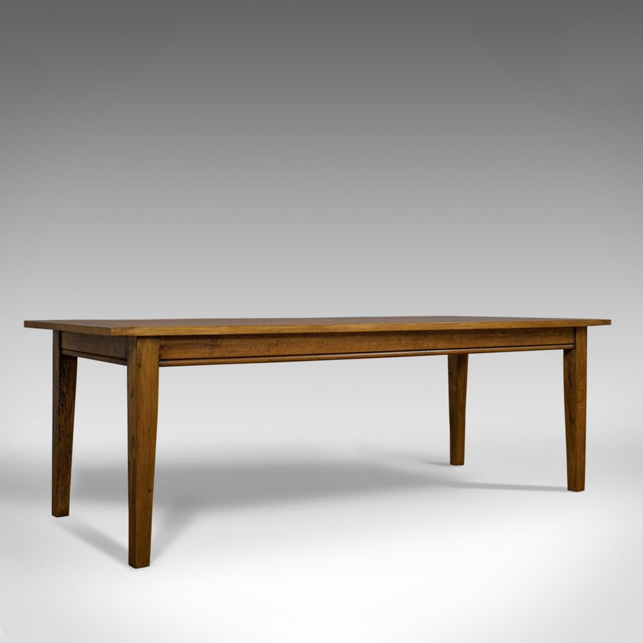 Large Antique Dining Table, Oak, English, Victorian, Seats Eight, Circa 1900