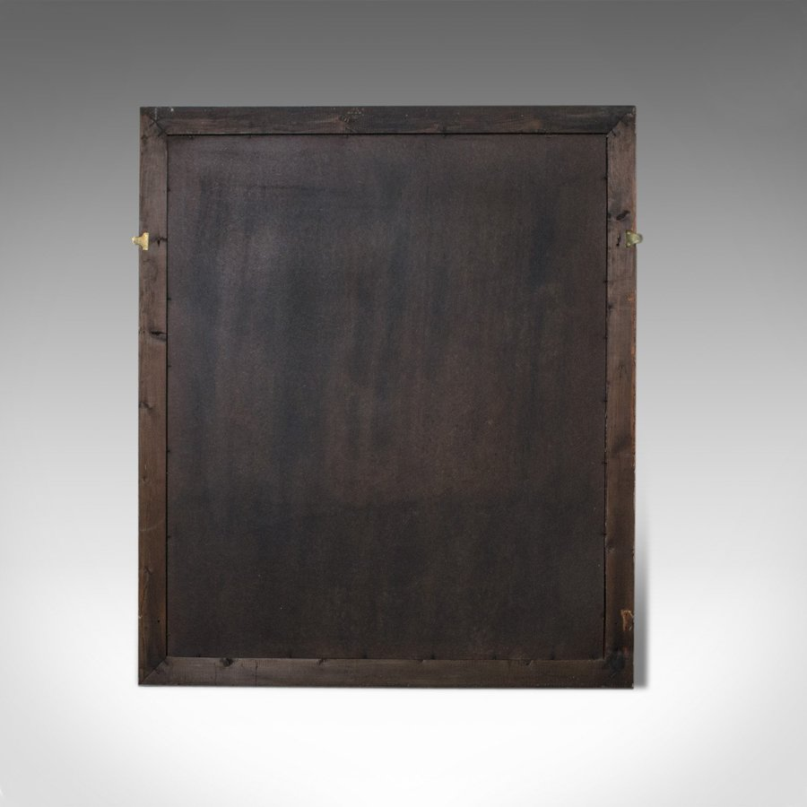 Antique Large Antique Wall Mirror, English, Victorian, Painted, Pine, Circa 1900