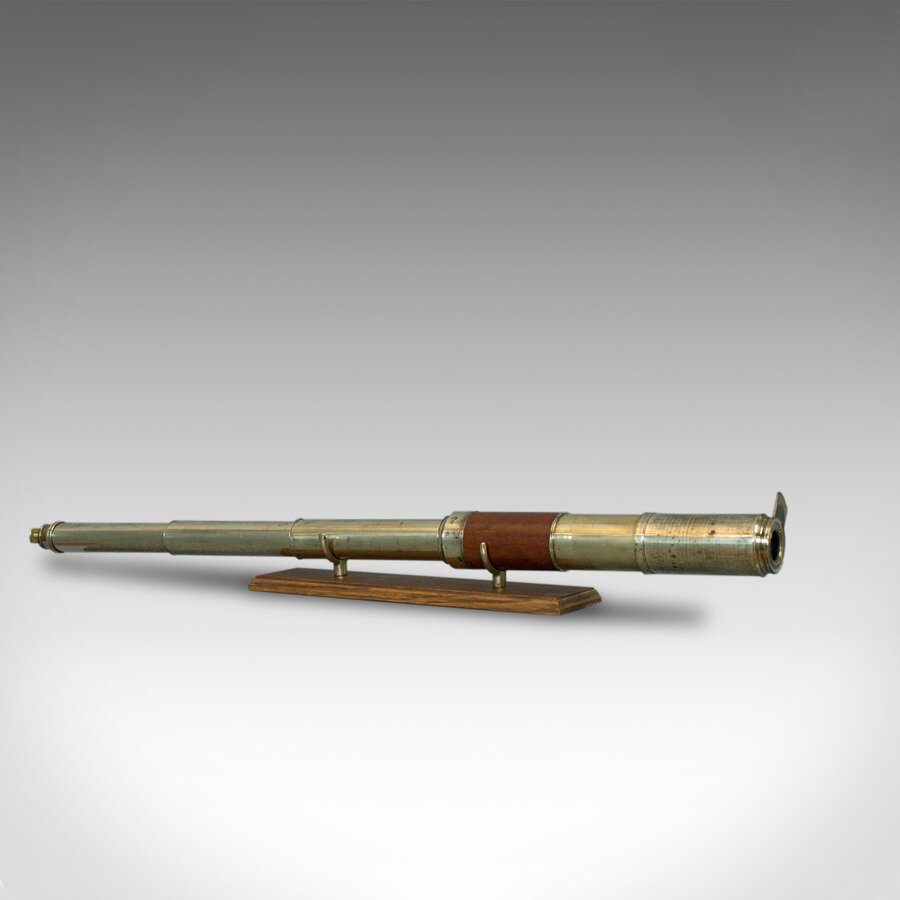 Antique Telescope, 3 Draw, Terrestrial, Astronomical, English, Georgian, C.1780