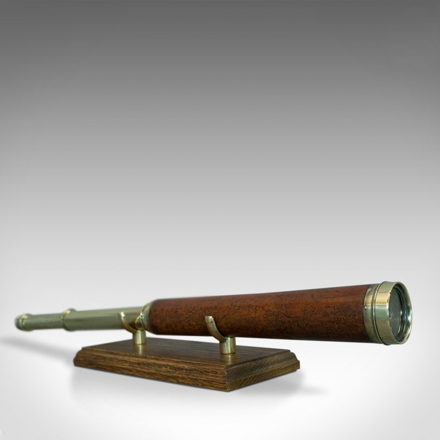 Antique Telescope, 2 Draw, Terrestrial, Astronomical, English, Georgian, C.1760
