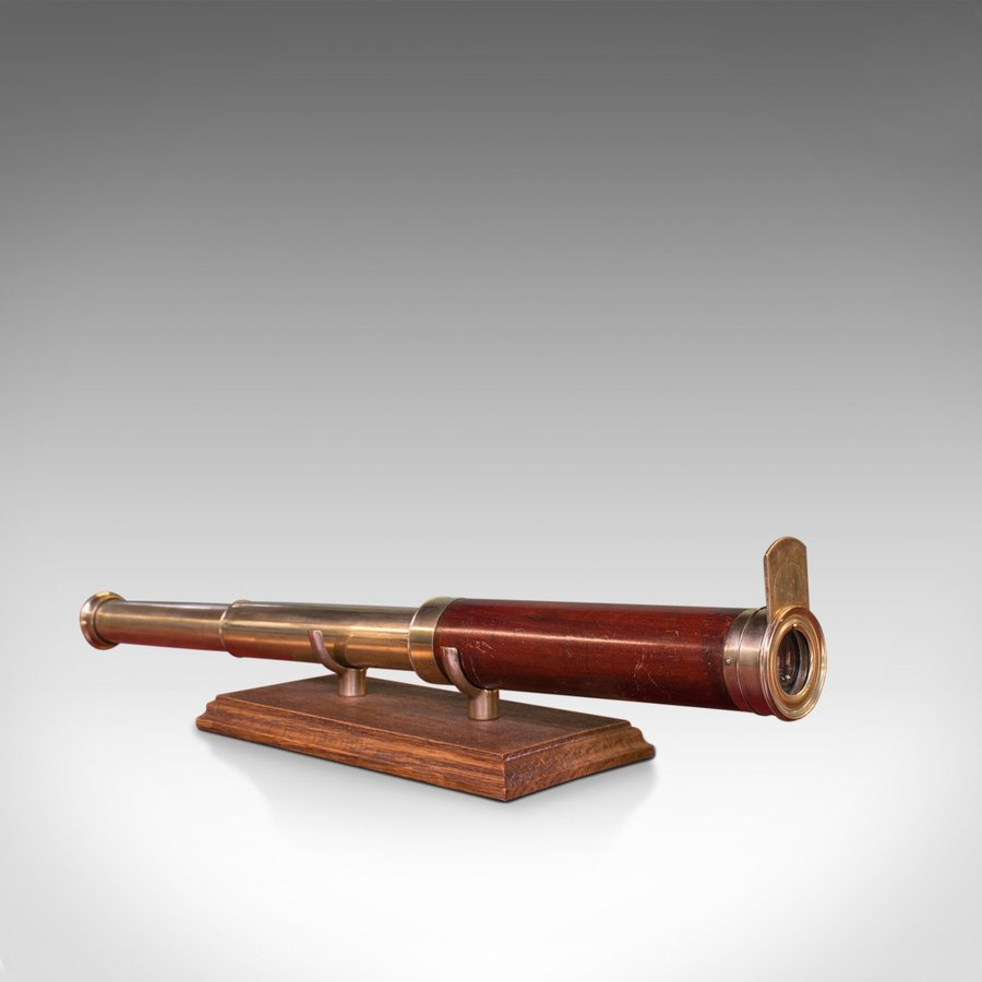 Antique Telescope, 2 Draw Refractor, English, Georgian, 18th Century, Circa 1800