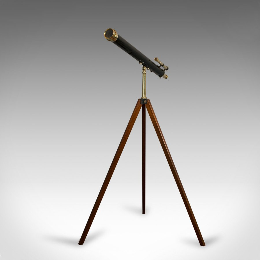 Vintage Telescope, Tripod, Broadhurst Clarkson, London, Starboy, Astronomical