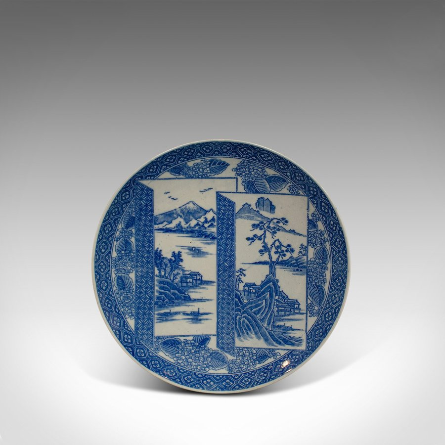 Vintage Decorative Plate, Arita Taste, Japanese, Painted, Dish, 20th Century
