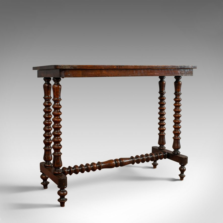 Antique Side Table, English, Victorian, Fruitwood, Marquetry, Circa 1880
