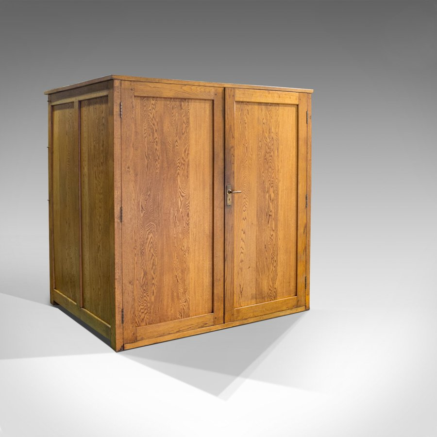 Massive Vintage Document Cabinet, English, Oak, Specimen, Art, Archive, Cupboard