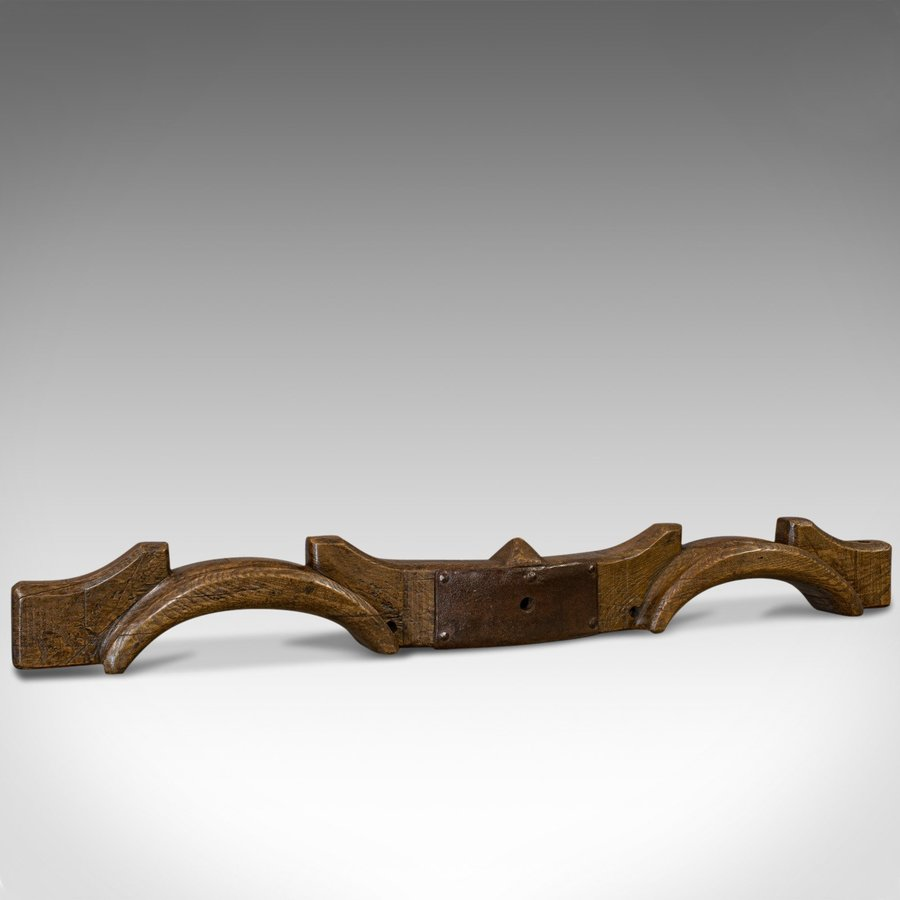 Antique Bow Yoke, English, Elm, Decorative, Wall, Display, Rural, Countryside