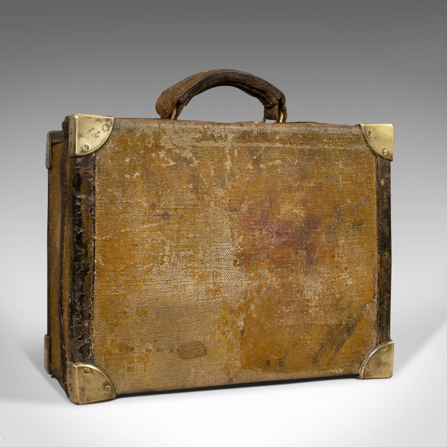Antique Antique Cartridge Case, English, Sporting Trunk, WT Hancock, London, Victorian