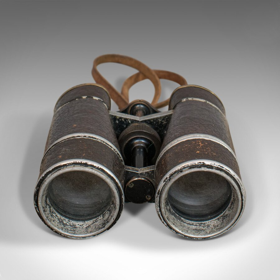 Antique Vintage Pair of Binoculars, German, 12x Magnification, Busch Prisma Terlux