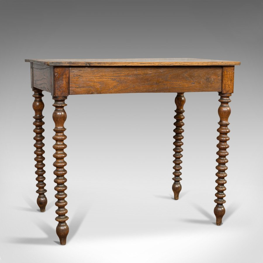 Antique Side Table, English, Oak, Desk, Occasional, Georgian, Circa 1780
