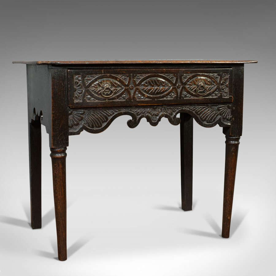 Antique Lowboy, Scottish, Oak, Occasional, Side Table, Georgian, Circa 1760