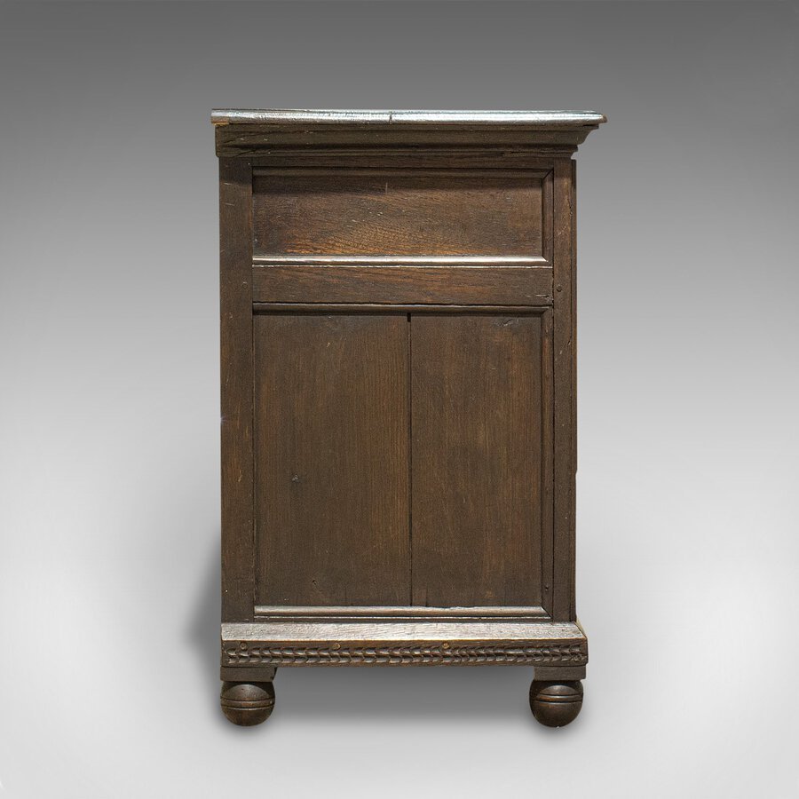 Antique Antique Pedestal Desk, English, Oak, Georgian, 18th Century, C.1800