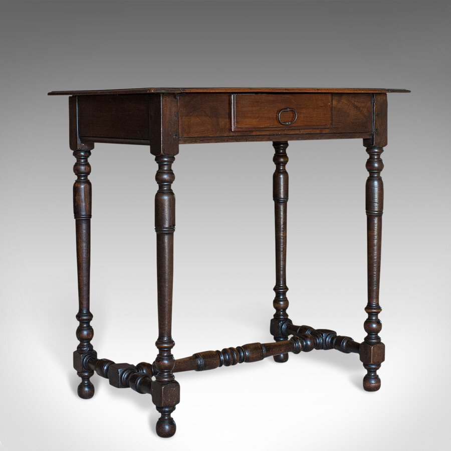 Antique Occasional Table, English, Oak, Side, Lamp, Victorian, Circa 1880