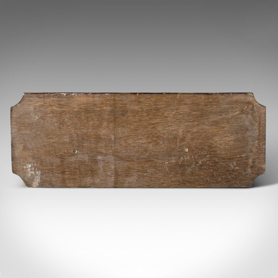 Antique Vintage Maritime Half Hull, English, Pine, Decorative, Ship, Plaque, Circa 1930
