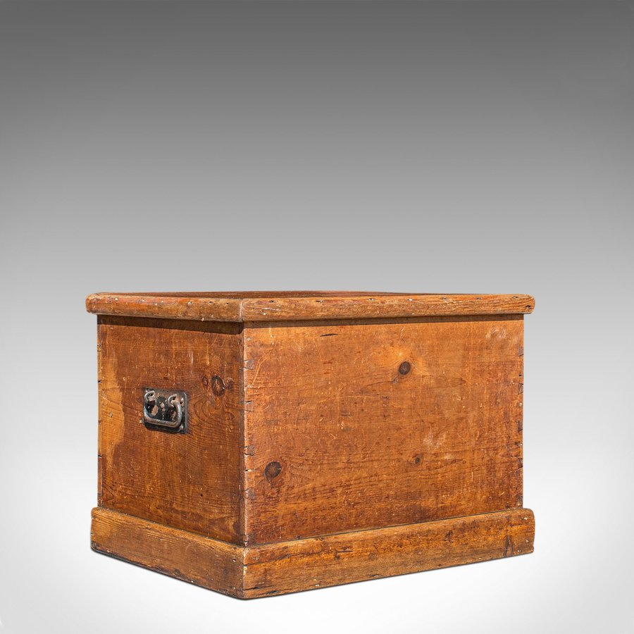 Antique Carriage Chest, English, Blanket Trunk, 19th Century, Circa 1850