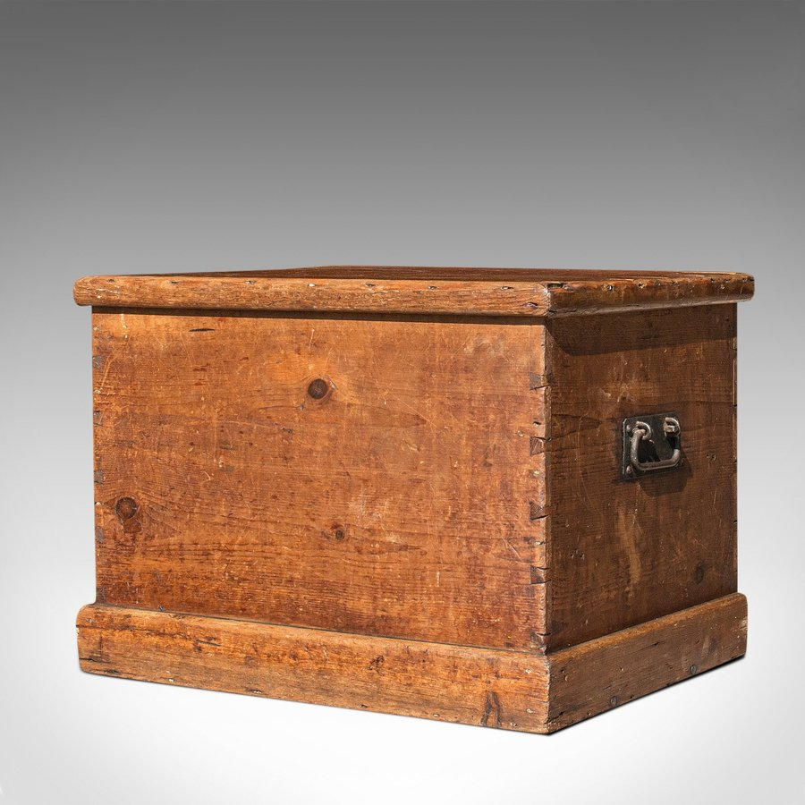 Antique Antique Carriage Chest, English, Blanket Trunk, 19th Century, Circa 1850