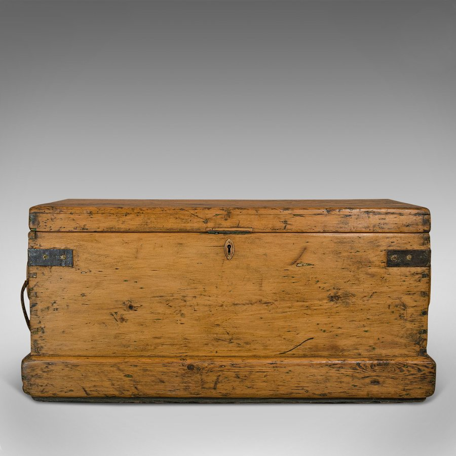 Antique Antique Shipwright's Tool Chest, English, Maritime, Craftsman, Trunk, Victorian