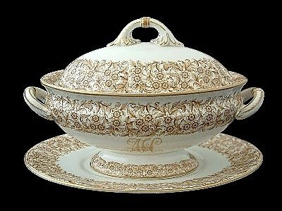 Antique Fine Royal Worcester Mundy & Co Bristol Vitreous Tureen