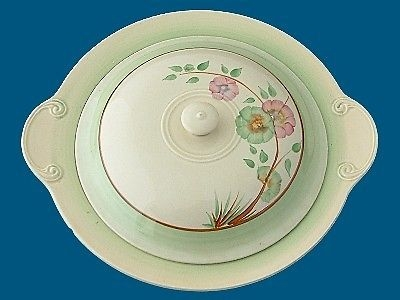 Antique Clarice Cliff Art Deco Corolla (Flowers) Pattern Tureen
