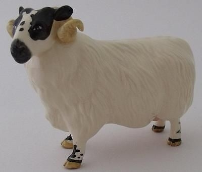 Antique Beswick Black Faced Ram Figure - Model Number 3071 - Boxed