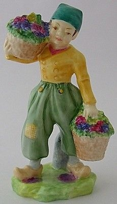 Antique Nice Royal Worcester Dutch Boy Figure RW 2923 Modelled By Frederick M Gertner