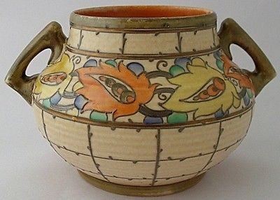 Antique Fabulous Large Charlotte Rhead Tarragona Two Handled Vase - Art Deco