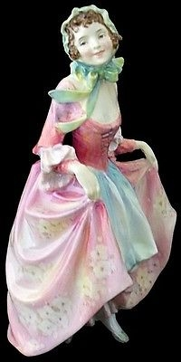 Antique Attractive Royal Doulton Suzette Lady Figure HN 1487 - Issued 1931 - 1950