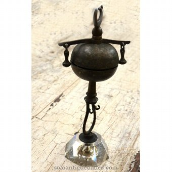 Antique Bell hit with spherical shape
