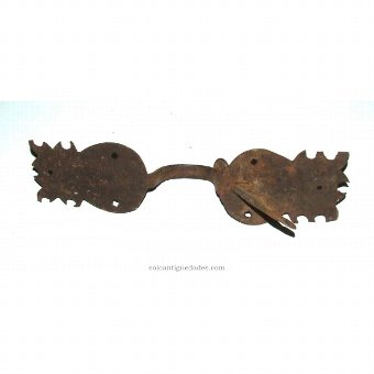 Antique Iron Knob lobed formed by two plates