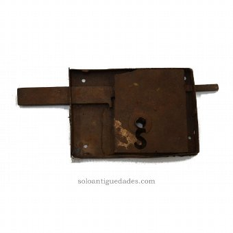 Antique Dual latch and lock rectangular